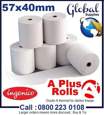 Just Eat Compatible Thermal Till Rolls (57x40) Quality Assured made in UK
