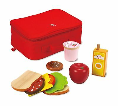 Hape Lunch Box Kid's Wooden Kitchen Play Food Set and Accessories NO TAX