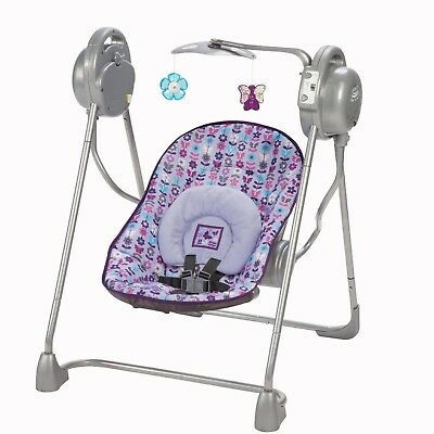 Safe Portable Baby Sway Play Swing with Toys Infant Music 5 Songs Mobile Folds