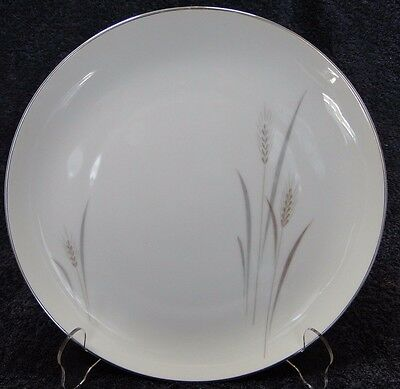 """Fine China of Japan Platinum Wheat Dinner Plate 10 1/4"""" EXCELLENT!"""