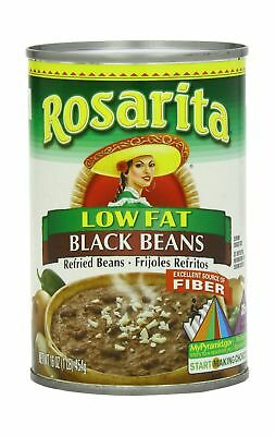 Rosarita Low Fat Refried Black Beans 16 Ounce (Pack of 12) NO TAX