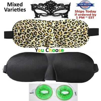 Travel 3D Eye Mask Sleep Soft Padded Shade Cover Rest Relax Sleeping Blindfold