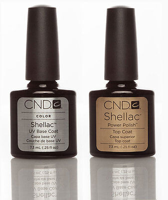 CND Shellac Esmalte de Uñas, Top Coat y Base Coat.