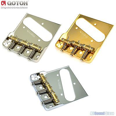 GOTOH BS-TC1S 'Cut Down Sides' In-Tune Brass Saddle Bridge for Tele Telecaster®