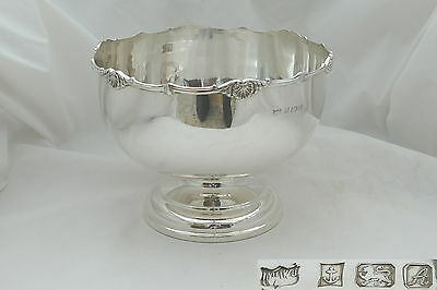Stunning Qe Ii Hm Sterling Silver Punch Bowl 1975
