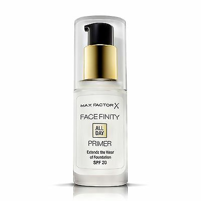 Max Factor Face Finity All Day Foundation Primer - SPF 20 - 30ml - New & Sealed