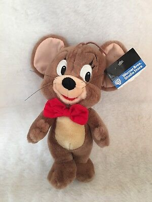"""Hanna Barbera Tom & Jerry Jerry The Mouse 10"""" Plush Toy New Rare Vintage 1997"""