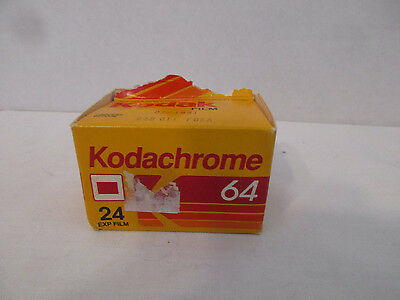 Single Roll Kodak Kodachrome 64 24 Exposure Film 35mm + Box Expired 7/1991