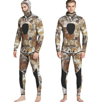 Men Full Wetsuit 3mm Spearfishing Diving Wetsuit Super Stretch Two-Piece
