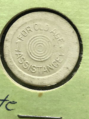 Rare Oklahoma Sales Tax Token 1 Mill For Old Age Assistance white Plastic #5151
