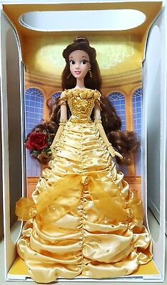 "Disney Limited Edition Yellow Dress Belle 17"" doll Beauty and the Beast NIB LE"
