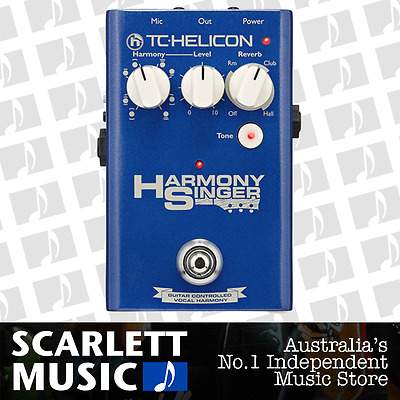 TC Helicon Voicetone Harmony Singer 1 ( One ) Vocal Pedal w/ 12 Months Warranty.