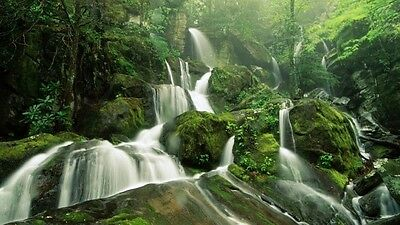 Beautiful Mountains River Falls High Quality wall Art poster Choose your Size