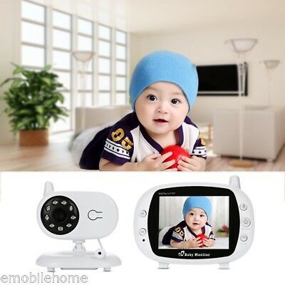 """Video Baby Monitor Baby Safety Security Camera 3.5"""" LCD Infrared Night Vision"""