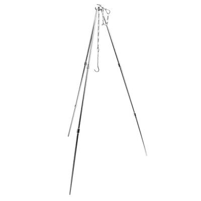 Portable Cooking Tripod Hanger Holder Stand for Outdoor Camping Picnic BBQ