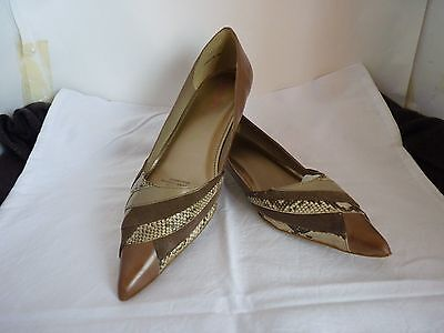 Bonbons Anisette Low Heel Ladies Taupe Leather Shoes Size 8.5