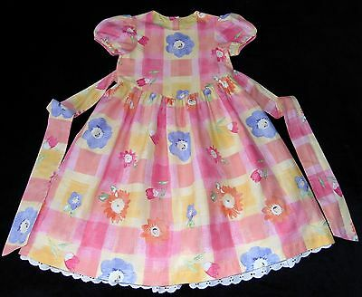 Laura Ashley vintage Mother & Child floral cotton dress with petticoat, 5 years