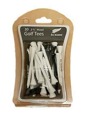 ALL BLACKS WOODEN TEES x 30 - OFFICIAL LICENSED RUGBY UNION PRODUCT - NEW