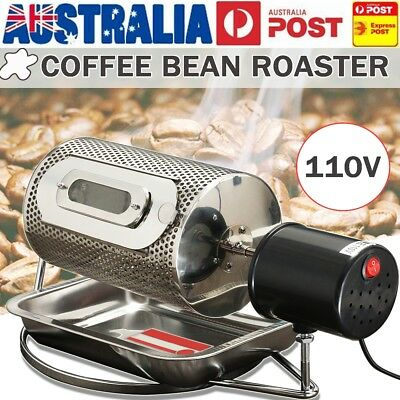 110V Electric Stainless Steel Coffee Bean Roaster Machine Roasting With Tray