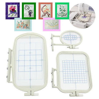 3 Embroidery Hoops Set for Brother SE400 SE425 PE500 HE-120 HE-240 Machine