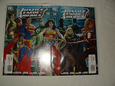 Lot 2 Justice League Of America 12 Alex Ross Connecting Variants - Nm