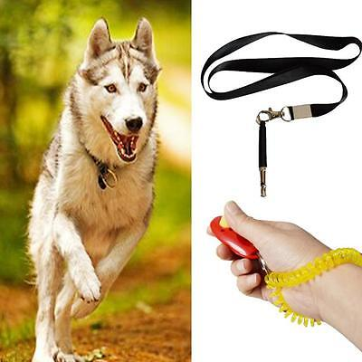 Pet Dog Training Whistle Ultrasonic Cat Bird Clicker Bark Control Obedience New