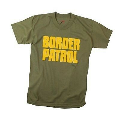 US BORDER PATROL POLICE POLIZEI GRENZSCHUTZ OLIVE DRAB T SHIRT M Medium