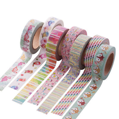 10M DIY Cartoon Washi Papier Band Klebeband Gold Foil Masking Tape Reispapier