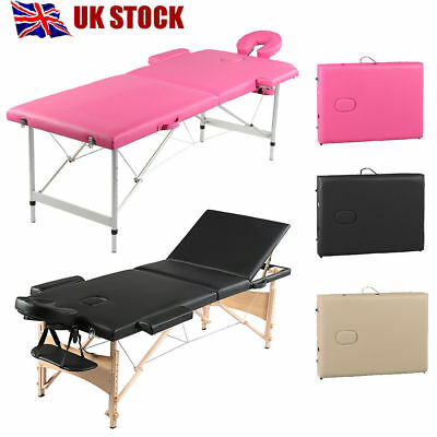 Folding Massage Table Portable Beauty Salon Tattoo Therapy Couch Bed PU Leather