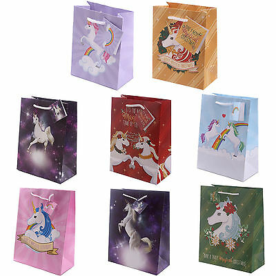 Unicorn Gift Bag Choice of Bags and Sizes
