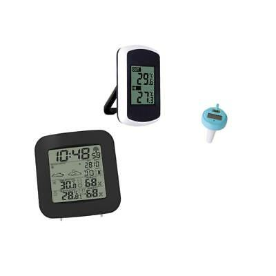 Digital LCD Display Weather Station and Indoor Temperature for Floating Pool