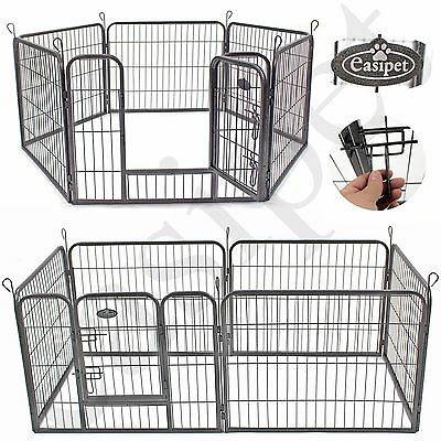 Heavy Duty 6 Panel Puppy Dog Pet Playpen Run Enclosure Whelping Pen Metal Cage