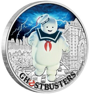 2017 Ghostbusters Puft 1 oz silver coin - Perth Mint 99.99%
