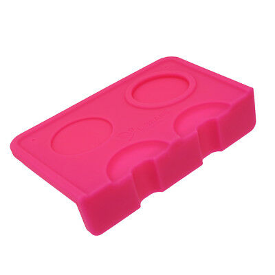1 Piece Silicone Coffee Corner Mat Pressed Powder Tampering Corner Mat Pink