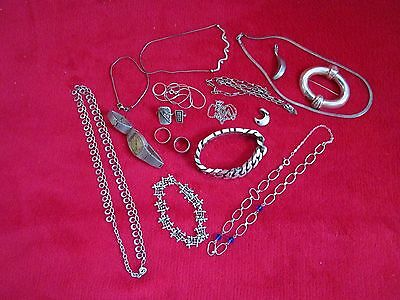Spanish & French Sterling Silver Mens/Womens Jewellery Scrap or Wear 218 grams