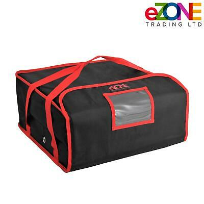 "Pizza Delivery Bag 18""x18""x8.5"" Professional Quality Fully Insulated Heavy Duty"