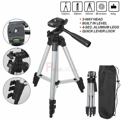 For Canon Nikon Camera Camcorder Universal Portable Aluminum Tripod Stand + Bag