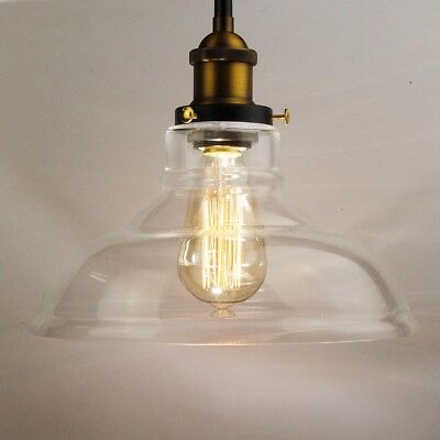 Industrial Loft Style Clear Glass Ceiling Lamp pendant lighting Vintage Cafe Bar