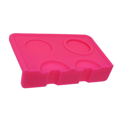 1 Piece Double Groove Pressed Powder Base Seat Holder Coffee Corner Mat Pink