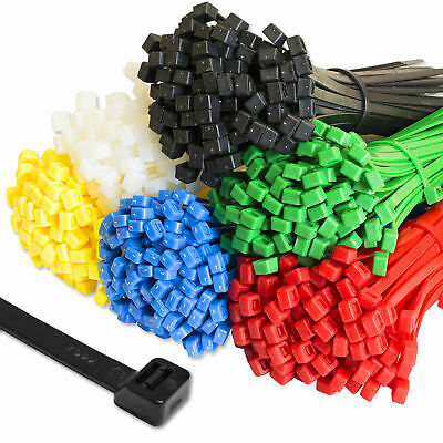 Cable Ties Tie Wraps Nylon Zip Ties Strong Extra Long All Sizes & Colours