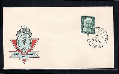 AAT 1961 Official unaddressed 5d Sir Douglas Mawson FDC