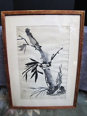"Vintage Chinese Chin Kee Chung ""The Little Chicks"" Bamboo Brush Painting"