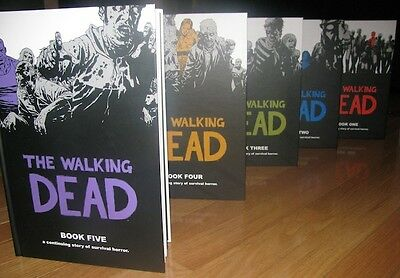 The Walking Dead Hardcovers SET Books 1 to 5 - Brand New - SEALED