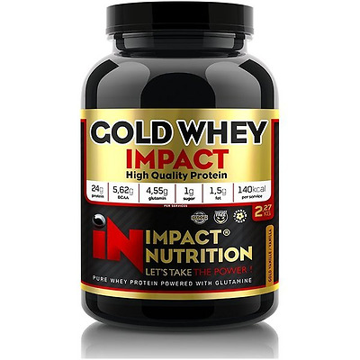 Gold Whey 2KG Impact Nutrition Croissance musculaire CHOCCOOKIE