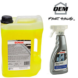 Sonax Full Effect Wheel Cleaner 5 Liter And 16.9Oz Spray 230500 230200 Alloy