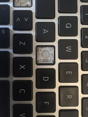 """Apple MacBook Pro 13""""  A1278 one replacement keyboard key  with clip and rubber"""
