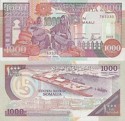 Somalia 1000 Shillings Banknote 1990 Uncirculated Condition  Cat#37-A-3330