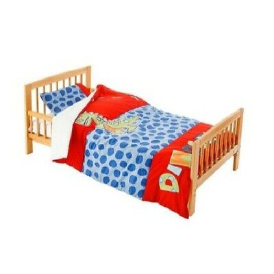 Dinosaur 5 Pieces Junior Bedding Set Quilt Pillow Pillowcases & Sheet - Red/Blue