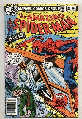 THE AMAZING SPIDER- MAN   No  189  by MARVEL  V  FINE/ N MINT  1979