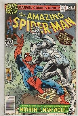 THE AMAZING SPIDER- MAN   No  190  by MARVEL  V  FINE/ N MINT  1979